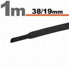 Tub Termocontractibil Negru • 38 / 19 mm