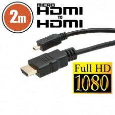 Cablu micro HDMI • 2 mcu conectoare placate cu aur