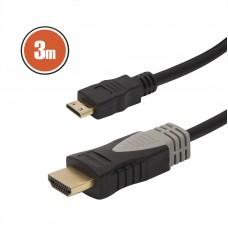 Cablu mini HDMI • 3 mcu conectoare placate cu aur