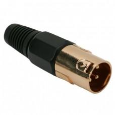 Fisa XLR • 3 poliplacat cu aurcu fleaca de prindere protectie pt. cablu
