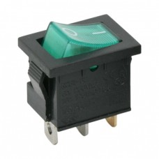 Interupator basculant 1 circuit 6A-250V OFF-ON, lumini de verde