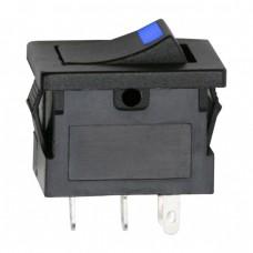Interupator basculant1 circuit15A-12VDCOFF-ONcu LED albastru