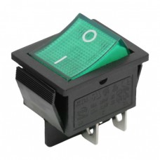 Interupator basculant 1 circuit 16A-250V OFF-ON, lumini de verde