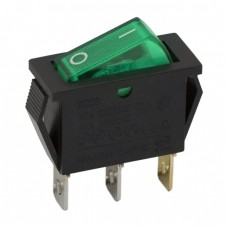 Interupator basculant 1 circuit 10A-250V OFF-ON lumini de verde