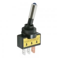 Intrerupatoare cu brat 1 circuit 20A-12VDC OFF-ON cu LED albastru