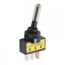 Intrerupatoare cu brat 1 circuit 20A-12VDC OFF-ON cu LED galben