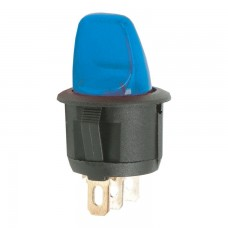 Intrerupatoare cu brat 1 circuit OFF-ON 6A-250V, lumina albastra