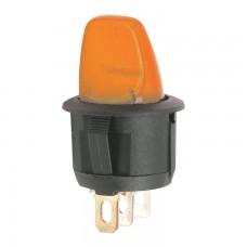 Intrerupatoare cu brat 1 circuit OFF-ON 6A-250V, lumina partocaliu
