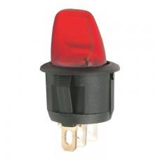 Intrerupatoare cu brat 1 circuit OFF-ON 6A-250V, lumina rosie