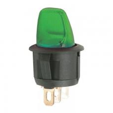 Intrerupatoare cu brat, 1 circuit, OFF-ON 6A-250V, lumina verde