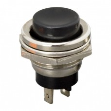 Buton 1 circuit 2A-250V OFF-(ON), negru