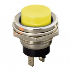 Buton 1 circuit 2A-250V OFF-(ON), galben