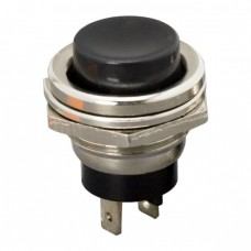 Buton 1 circuit 2A-250V ON-(OFF), negru