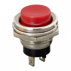Buton 1 circuit 2A-250V ON-(OFF), rosu