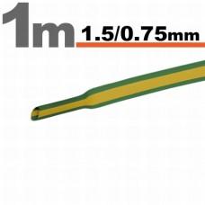 Tub termocontractibilGalben/Verde • 1,5 / 0,75 mm