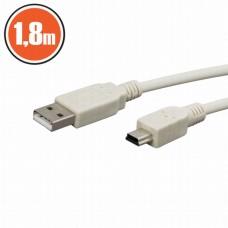 Cablu USB 2.0fisa A - fisa B (mini)1,8 m