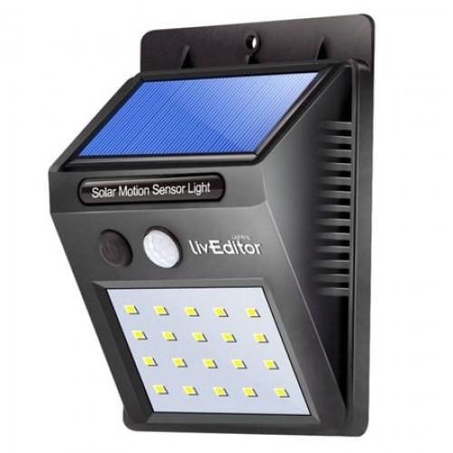 Lampa LED incarcare solara si senzor de miscare 30 x LED