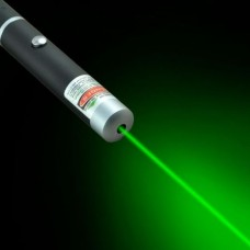 Laser pointer unda verde, 532nm, 5mW, forma stilou metalic, ergonomic