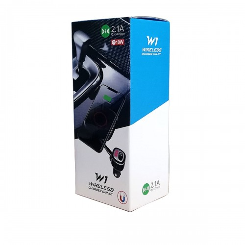 W1 - W1 - Car kit auto modulator fm, support magnetic si incarcator wireless W1 2.1A 10W