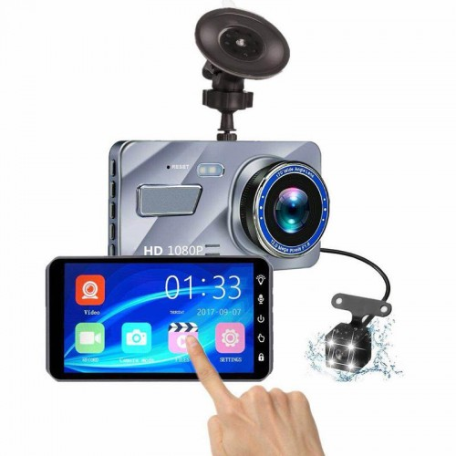 A10 Dual Lens Camera HD Ecran Touch Screen pentru masina Black Box DVR Loop Recorder 4 Inch 170 Grade