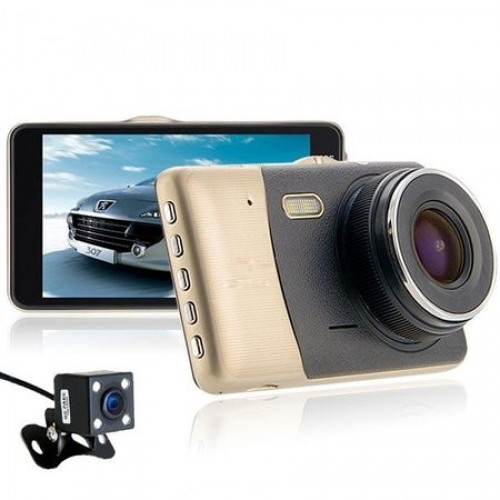"Camera auto DVR, 4"", Full HD, 170 grade, slim 9 mm"