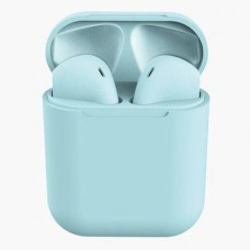 Casti Wireless, InPods 12, Albastru  EarBuds, pentru iOs & Android, Bluetooth 5.0, Bass Boost